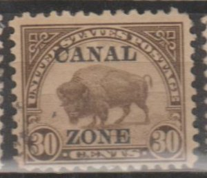 U.S. Canal Zone Scott #79 American Bison - Possession Stamp - Used Single
