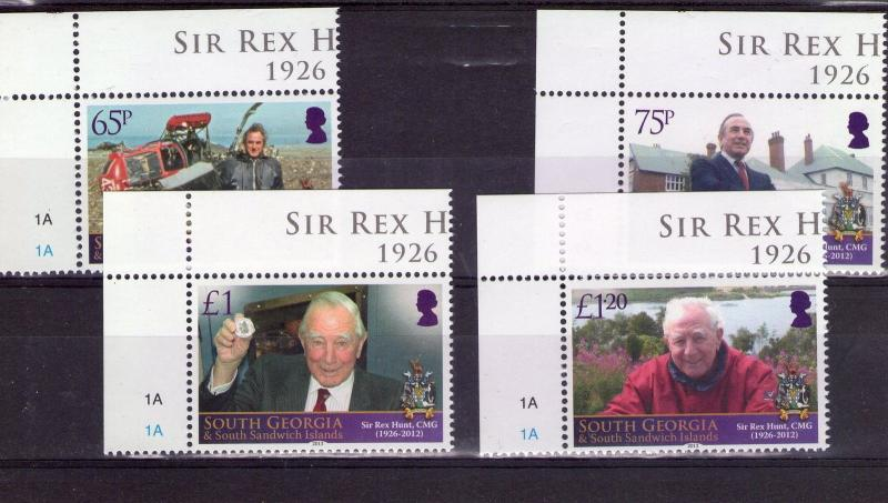 South Georgia QEII SIR REX HUNT  2013 SUPERB MNH CONDITION