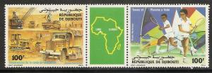 Djibouti C218-9 1985 Sports pair MNH