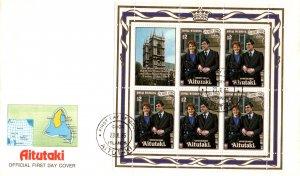 Aitutaki 397 Royal Wedding Souvenir Sheet U/A FDC