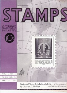 Stamps Weekly Magazine of Philately February 24, 1934 Stamp Collecting Magazine