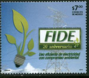 MEXICO 2729, TRUST FOR Electrical Energy Conservation 20h ANNIV. MINT, NH. VF.