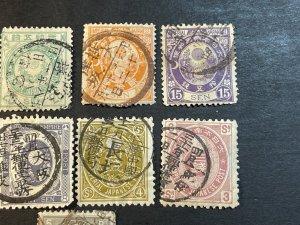 JAPAN # 75-84--USED---COMPLETE SET---1888-92