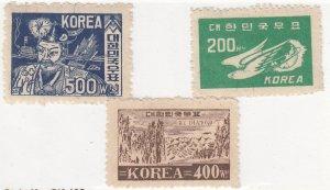 South Korea, Sc 111-113,  MNH, 1949, Various