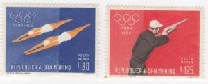 San Marino, C113-C114, MNH/MH, 1960, Olympics