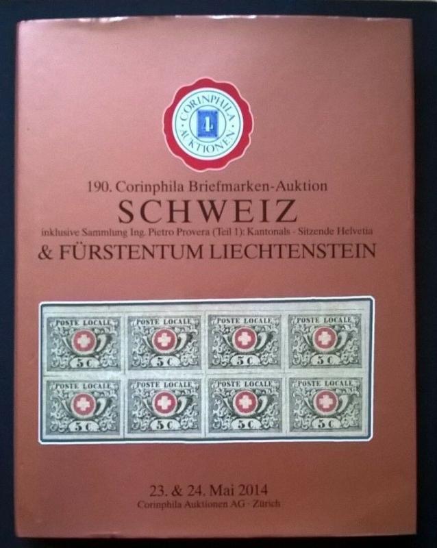 Auction catalogue SCHWEIZ Pietro Provera Kantonals Sitzende Helvetia Switzerland