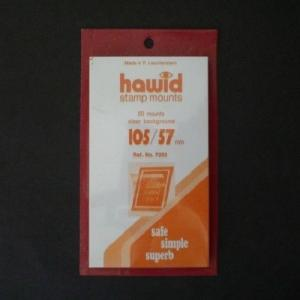 Hawid Stamp Mounts Size 105/57 CLEAR Pack of 25
