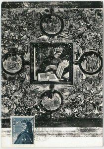 51569  - MALTA -  POSTAL HISTORY: MAXIMUM CARD - 1965  LITTERATURE : DANTE