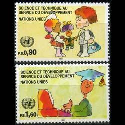 UN-GENEVA 1992 - Scott# 222-3 Science Set of 2 NH
