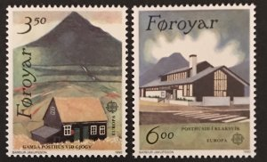 Faroe Islands 1990 #205-06, MNH, CV $2.75