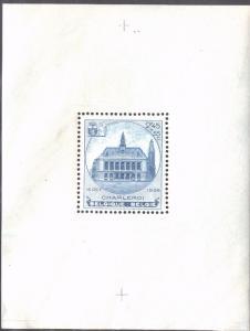BELGIUM B179 MNH TOWN HALL AT CHARLEROI S/SHEET 1936