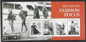 2020    AUSTRALIA  -  FASHION FOCUS  -  MINISHEET  -  MNH
