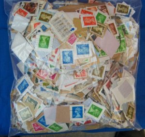 Over 1 Pound Great Britain Stamps on Paper, (S17323)