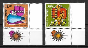 Israel 774-5 1981 Energy Tab set MNH
