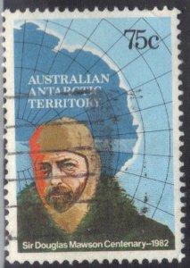 AUSTRALIA ANTARTIC TERRITORY SC# L54 USED 75c 1982 SEE SCAN