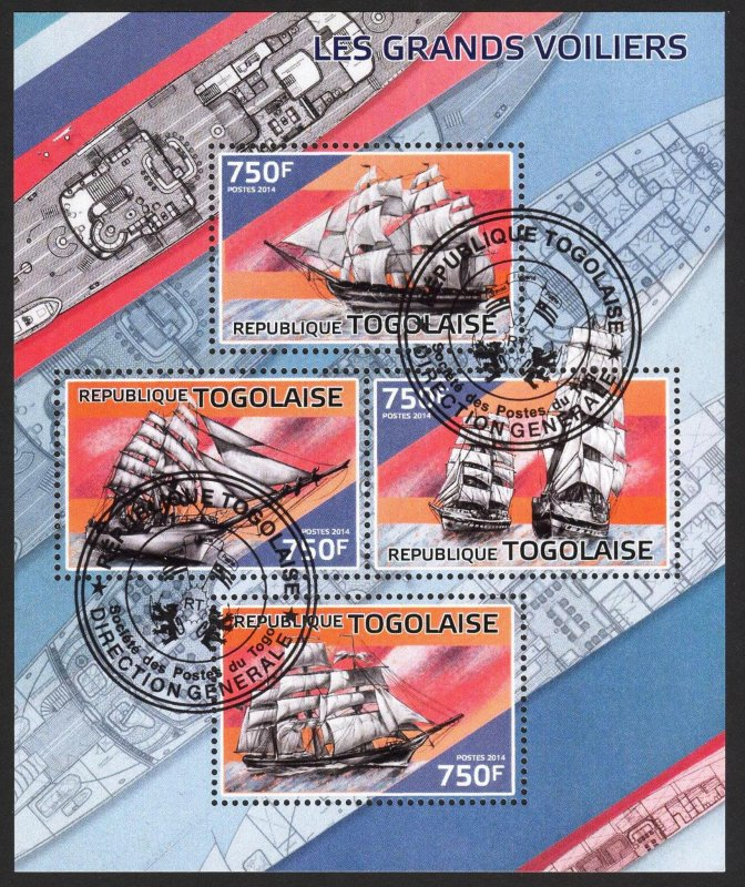 Togo 2014 Tall Ships sheet Used / CTO