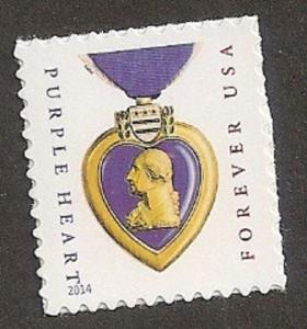 US 5035 Purple Heart Medal forever single (2014 date) MNH 2015