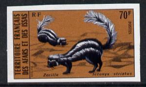 French Afars & Issas 1975 Wild Animals 70f (Zorilla) ...