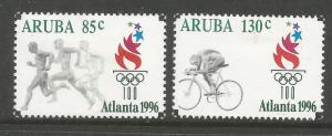 ARUBA  137-138  MINT HINGED, 1996 SUMMER OLYMPIC GAMES, ATLANTA
