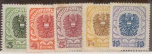 Austria 1920 SC# 243-7 MNH-OG L455