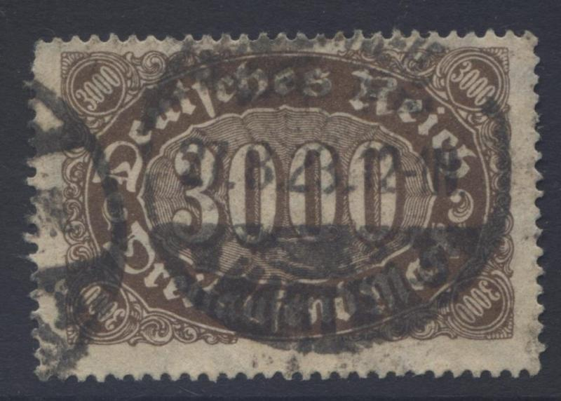 GERMANY-Scott 206- Definitive 3000m -1922- Used - Single 3000m Stamps