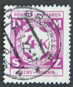 Czechoslovakia – Bohemia and Moravia Scott #O11 – USED