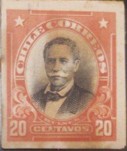 J) 1910 CHILE, MANUEL BULNES, AMERICAN BANK NOTE, DIE PROOF, IMPERFORATED