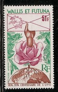 Wallis and Futuna Islands C54 1974 100th UPU single MNH