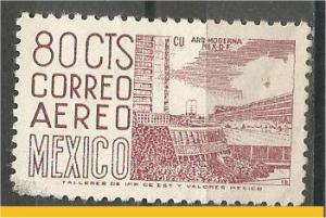 MEXICO, 1952, used 80c, Definitive Scott C194