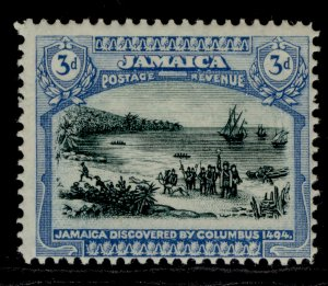 JAMAICA GV SG83, 3d myrtle-green and blue, LH MINT.