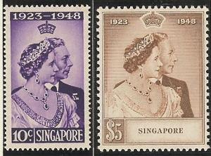 Singapore MNH Scott cat.# 21 - 22