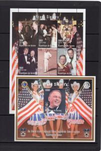 Guinea 1998 YT# 1189/06/129/130/3 FRANK SINATRA 2 Sheetlets (9) + 3 SS Perf.MNH