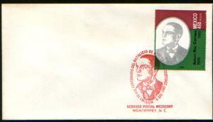 MEXICO 1634 FDC Cent of Birth of Pres Adolfo Ruiz Cortines