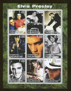 2000 Tajikistan Commemorative Souvenir Stamp Sheet - Elvis Presley