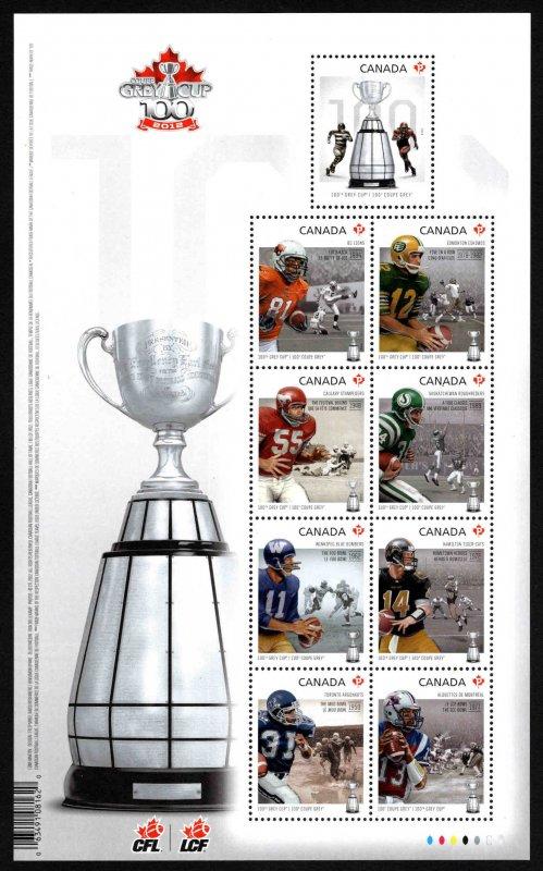 Canada Scott 2567 MNH** 2012 Canadian Football League Grey Cup