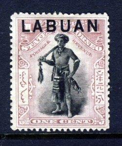 LABUAN Queen Victoria 1897 LABUAN Overprint on 1c North Borneo P14½ SG 89 MINT