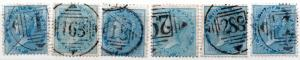 (I.B) India Postal : East India Numeral Cancels