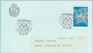 89799 - SAN MARINO - Postal History - SPECIAL POSTMARK : OLYMPIC Games  1989