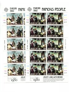 Jersey   1980  mini sheets . Mint   VF NH