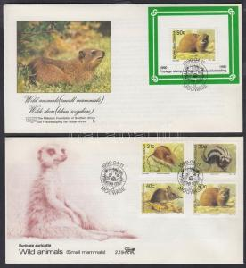 South-Africa - Bophuthatswana stamp Mammals FDC Cover 1990 WS142317
