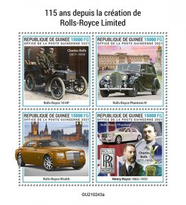 GUINEA - 2021 - Rolls Royce Limited - Perf 4v Sheet -Mint Never Hinged