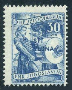 Yugoslavia,Trieste Zone B 74,MNH.Michel 93. Book manufacture,overprinted,1953.