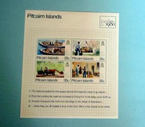 Pitcairn Islands - 192, MNH S/S, Complete. London '80. SCV - $1.75