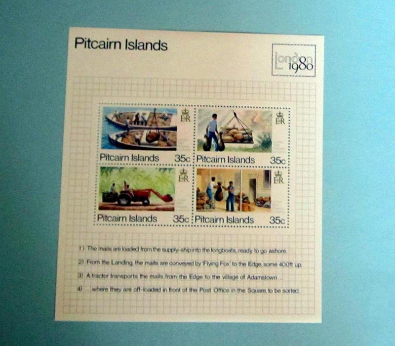 Pitcairn Islands - 192, MNH S/S, Complete. London '80. SCV - $1.75