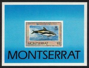 Montserrat WWF Dolphins MS 1990 MNH SC#757 SG#MS837