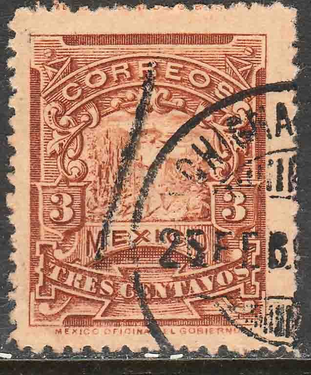 MEXICO 259 3cents MULITA WMK INTERLACED RM USED  F-VF. (159)