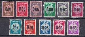 Israel # 168-171, Judean Coins, NH