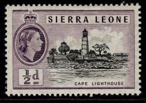 SIERRA LEONE QEII SG210, ½d black & deep lilac, M MINT.