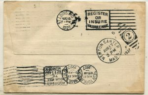 CAM N.2 Special Flight LINDBERGH FIELD Cover #C10 Stamp Postage Airmail Cachet