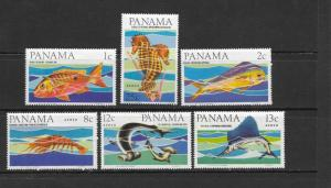 FISH - PANAMA #463-463A, C339-342  LH
